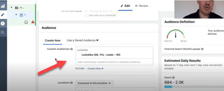 Using lookalike audiences for Facebook ads