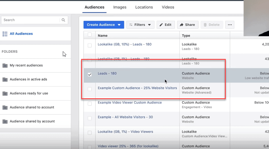 create a facebook lookalike audience