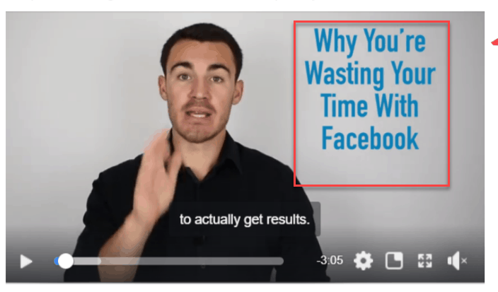 Facebook video ad for online services