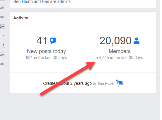 facebook group growth