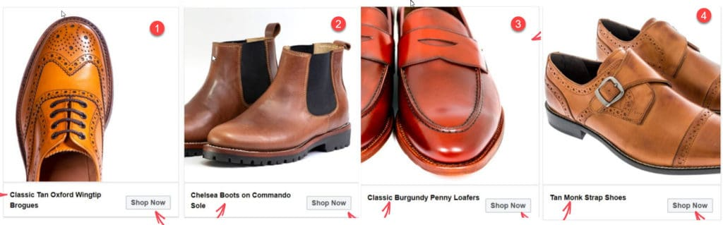 Facebook ad images for ecommerce