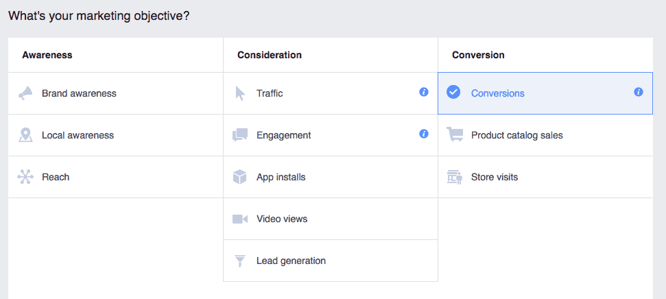 Conversions Objective Ads Manager