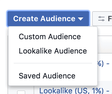 Create Audience and Facebook Custom Audience