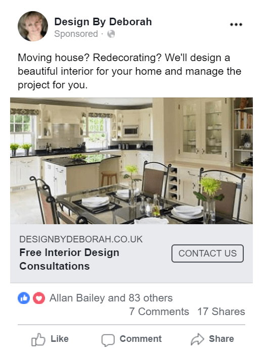 Interior Design Facebook Ads Kitchen