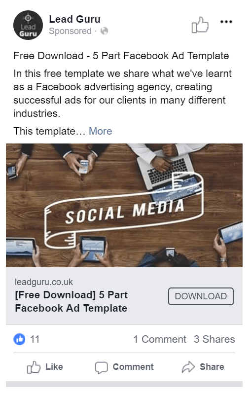 Facebook Ad Template Image Ad