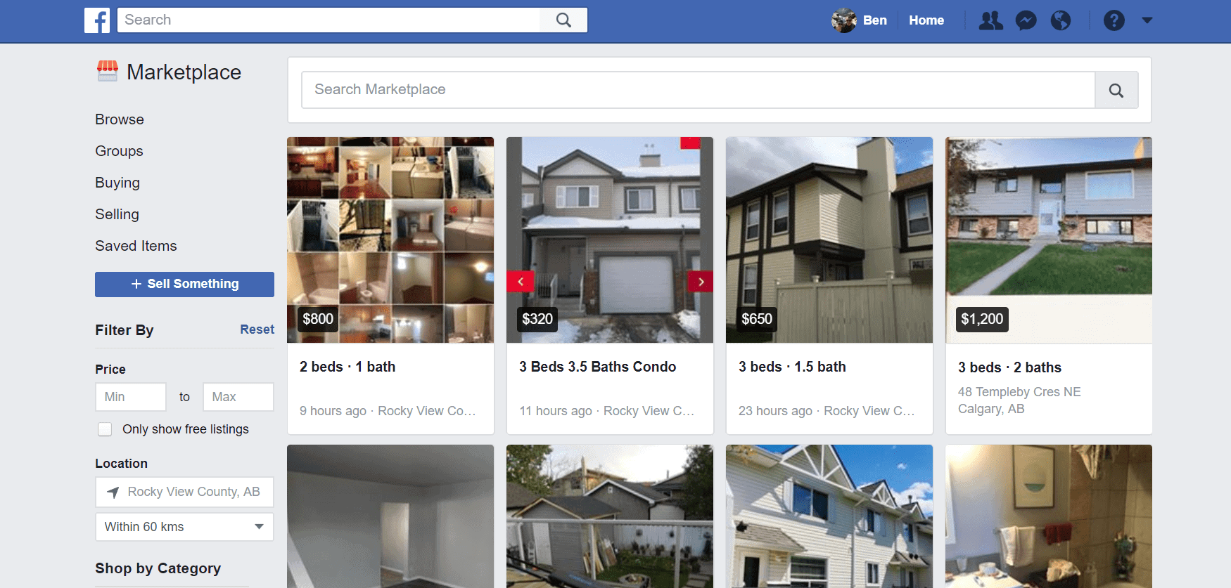 Facebook Marketplace Houses