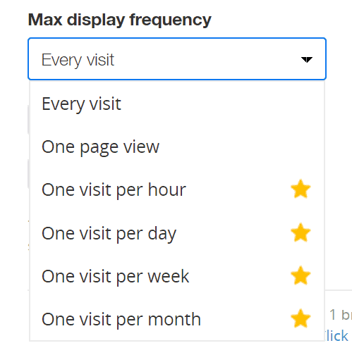 Zotabox Max Display Frequency Options