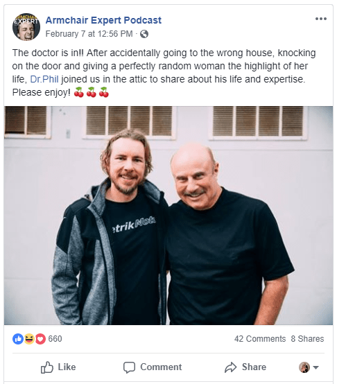 how to promote podcast via Facebook ads example 2
