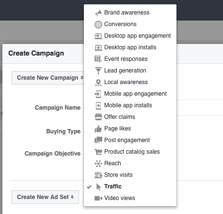 Choosing the right campaign objective