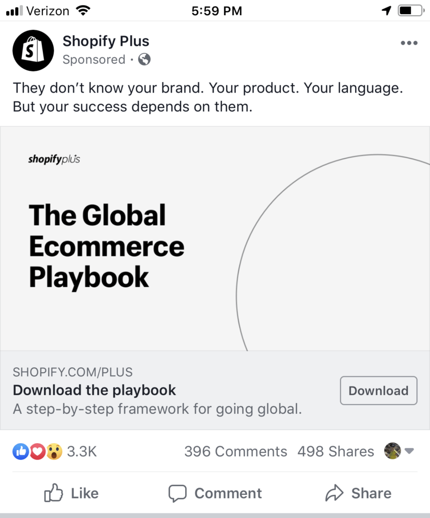 Facebook mobile news feed ads placement