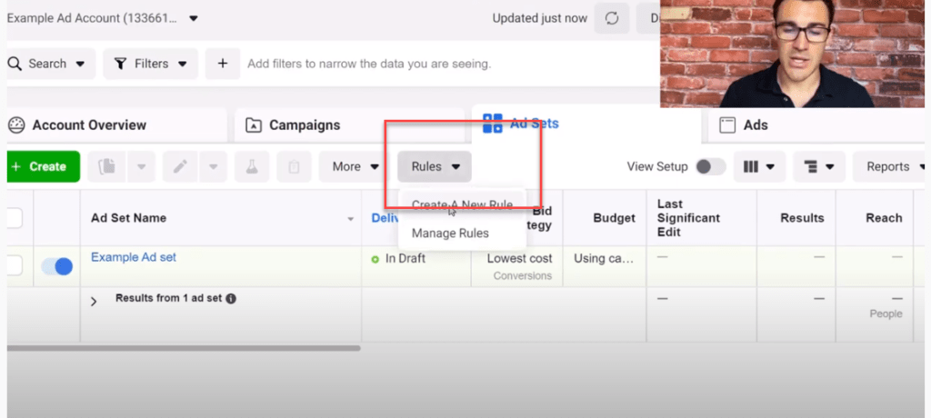 Creating rules for Facebook ads