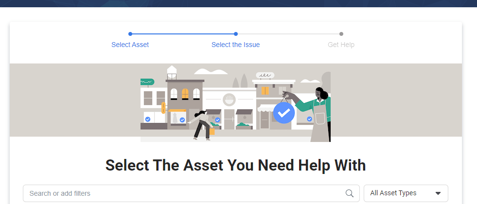 Select the ad account you need help with