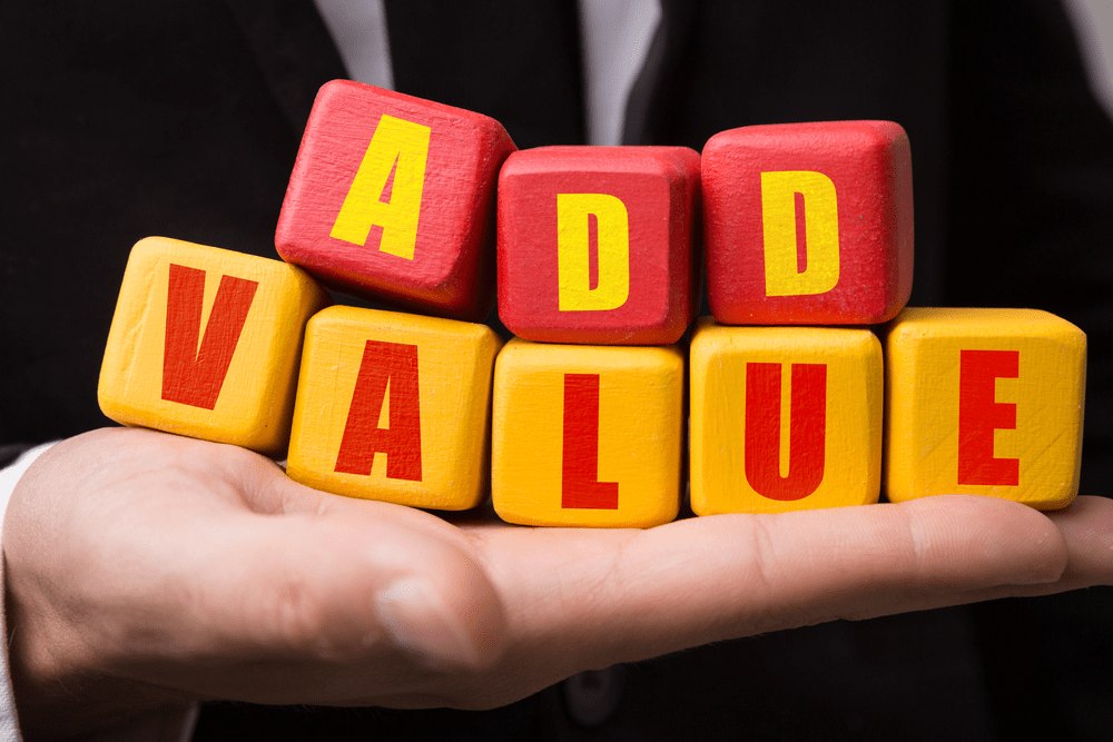 Adding value to your offer can help