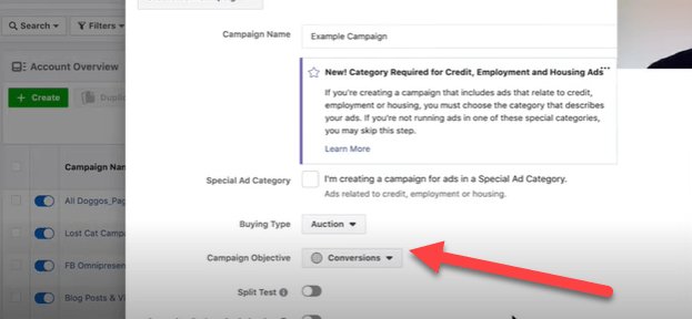 Select the right conversion objective for your Facebook ads campaign