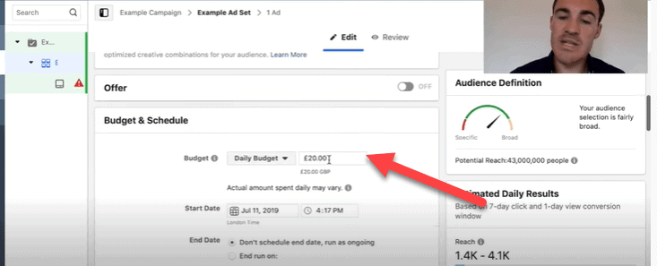 Setting your Facebook ads budget