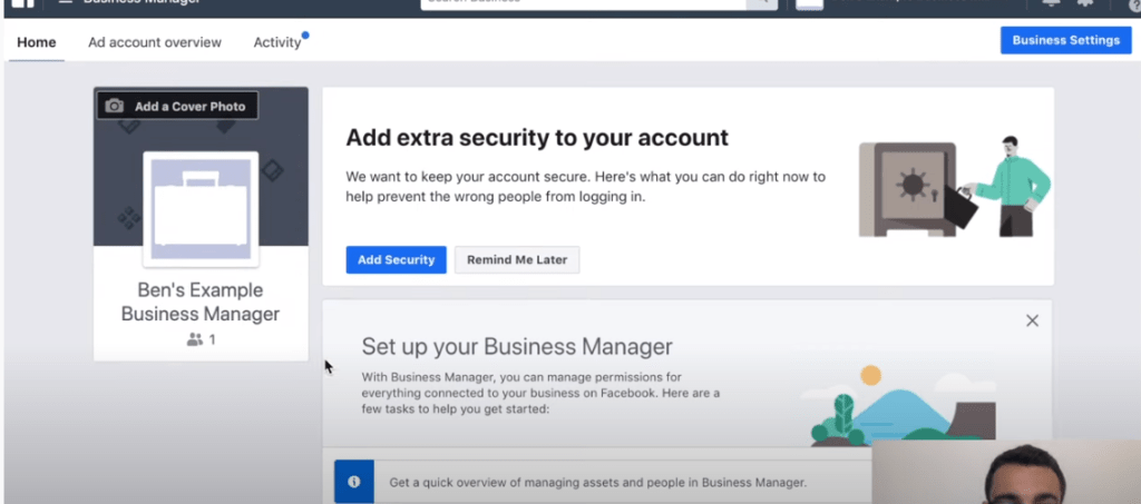 Adding security to Facebook ads manager