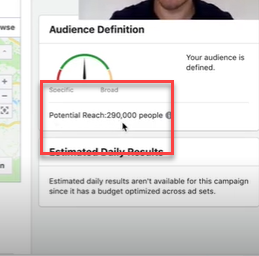 Keeping an eye on your Facebook ad audience size