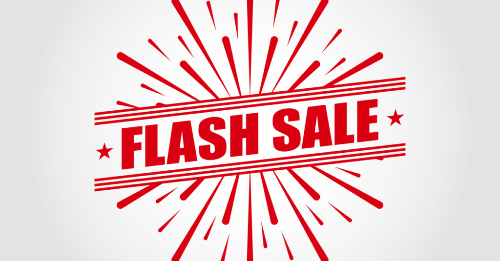 Flash sales can generate lots of sales fast