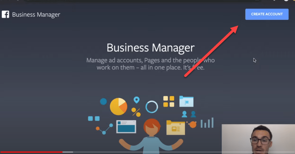 Entering your business manager for Facebook business account