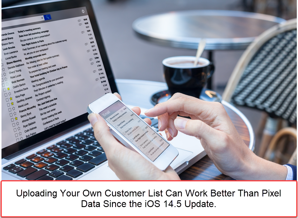 Upload your own list for a Facebook custom audience.